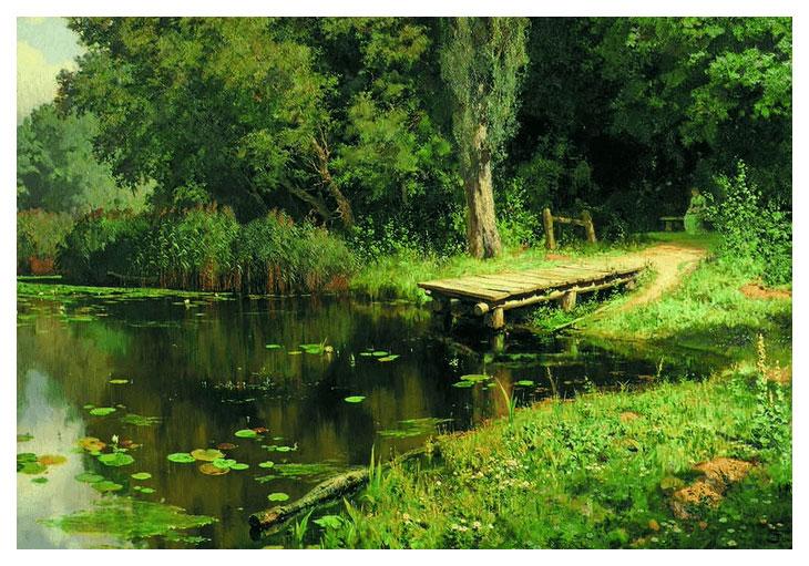 Пазл Стелла Заросший пруд TG150182
