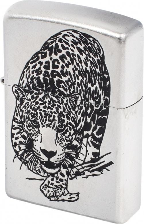 Зажигалка Zippo №205 Leopard Satin Chrome