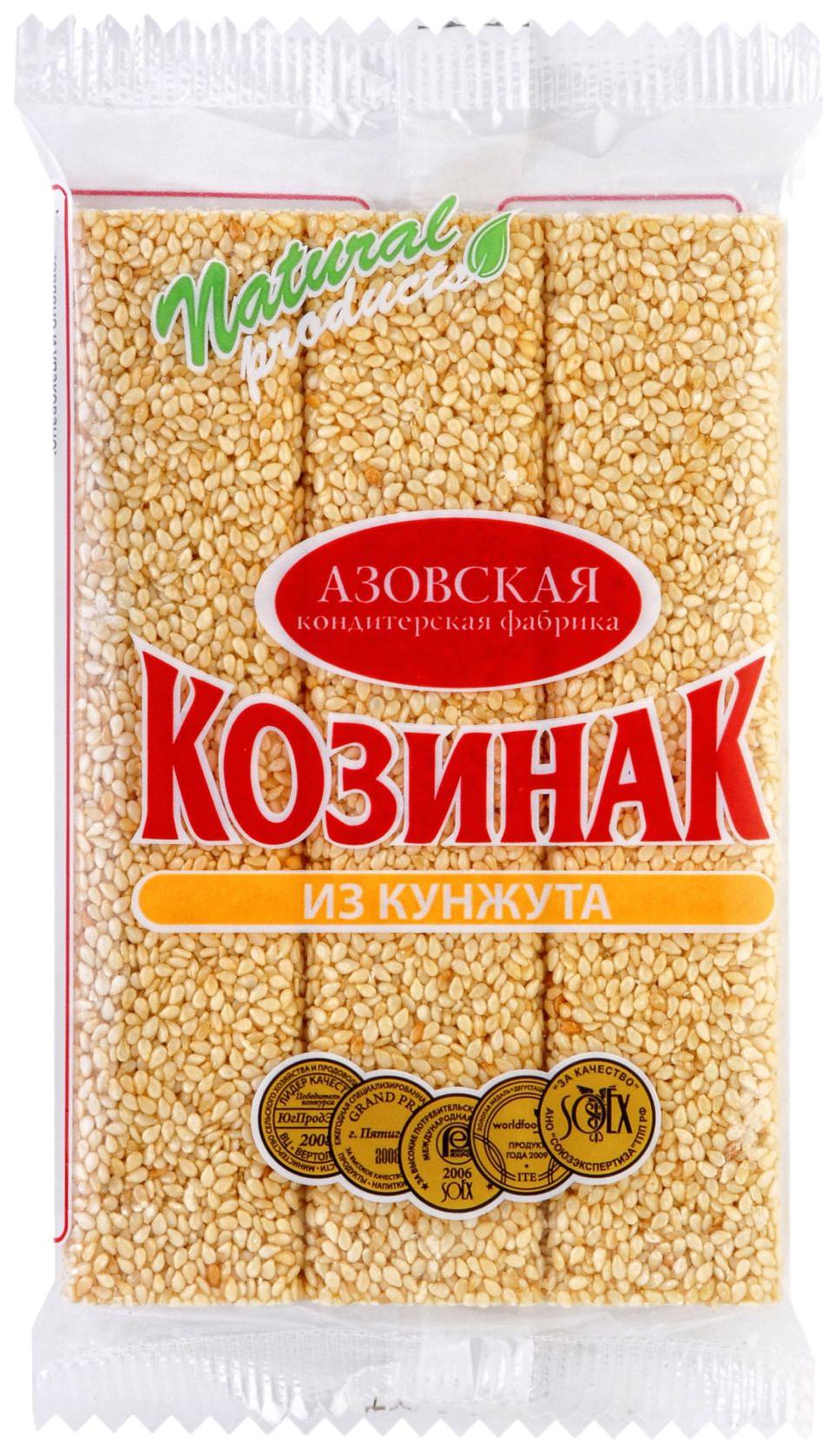 Козинак из кунжута Азовская кондитерская фабрика 150 г фото