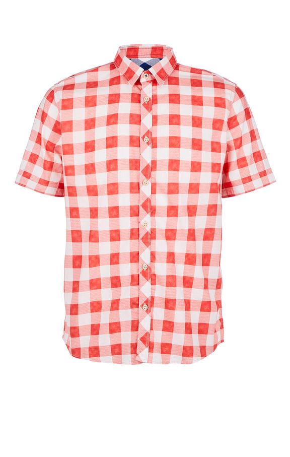 Рубашка Мужская TOM TAILOR красная 52