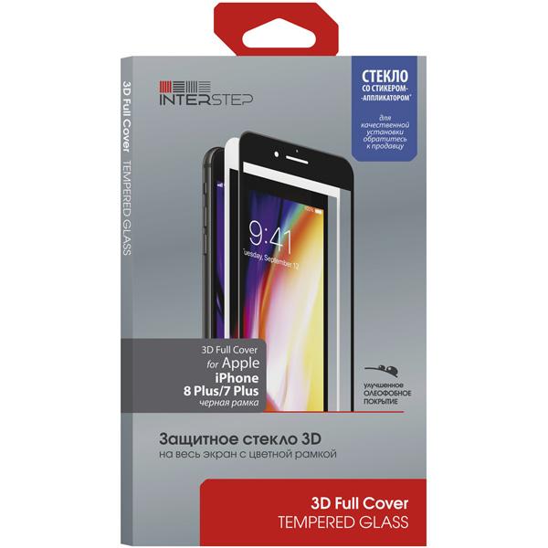 Защитное стекло InterStep для Apple iPhone 7 Plus/iPhone 8 Plus Black фото