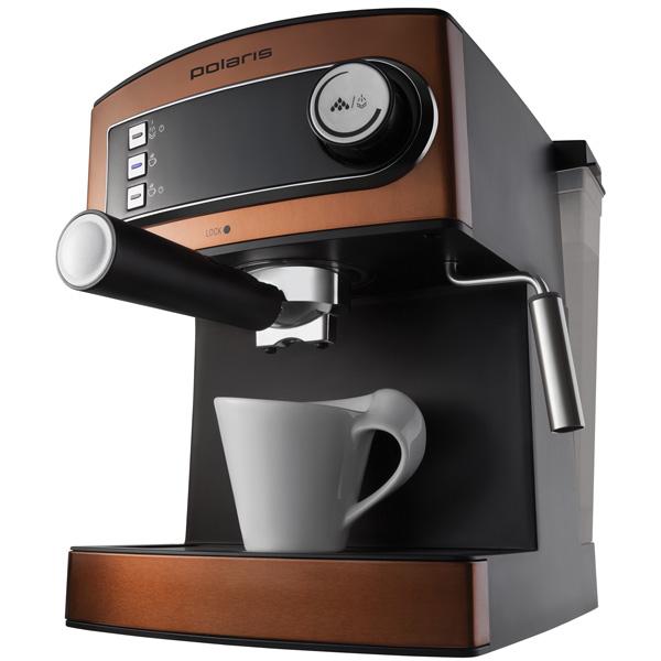 Рожковая кофеварка Polaris PCM 1515E Adore Crema Brown фото