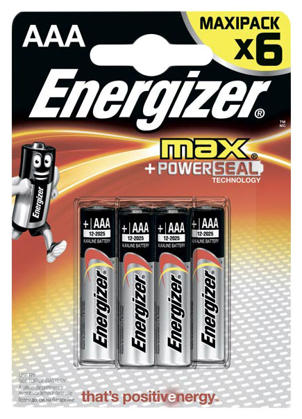 Батарейка Energizer MAX AAA-LR03 6 шт