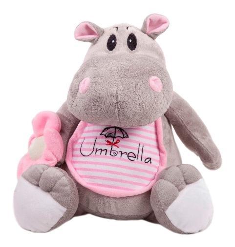 Купить Мягкая игрушка Button Blue Бегемотик с зонтиком 26 см, Мягкие игрушки животные