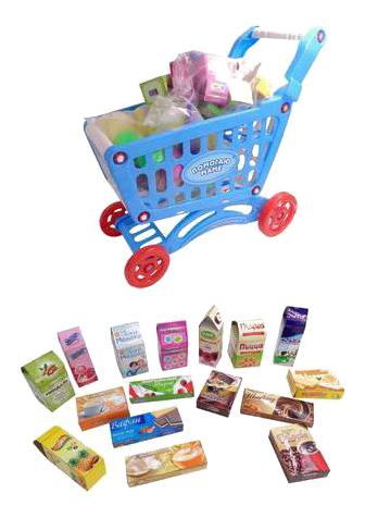 Купить Помогаю Маме, Помогаю маме. корзина-тележка для продуктов pt-00358, ABtoys, Детские тележки для супермаркета