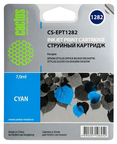 Картридж для струйного принтера Cactus CS-EPT1282 голубой