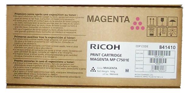 Картридж для лазерного принтера Ricoh MPC7501E, пурпурный, оригинал фото