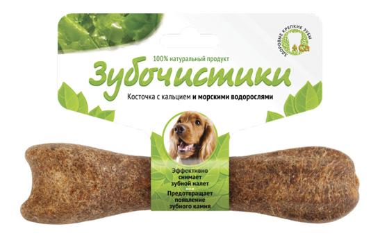 Лакомство для собак Деревенские лакомства Зубочистики Косточка с морскими водорослями, 95г