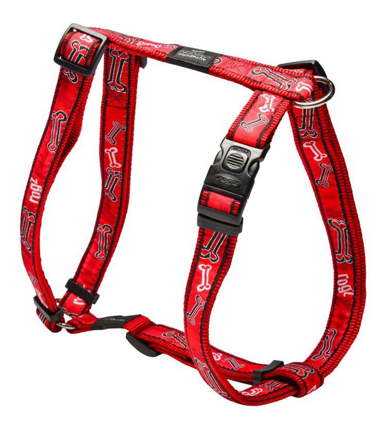 Шлейка для собак Rogz Fancy Dress XL-25мм (Красный SJ02CC)