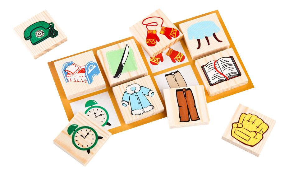 Купить Лото Предметы, Семейная настольная игра Лото Томик Предметы, Семейные настольные игры