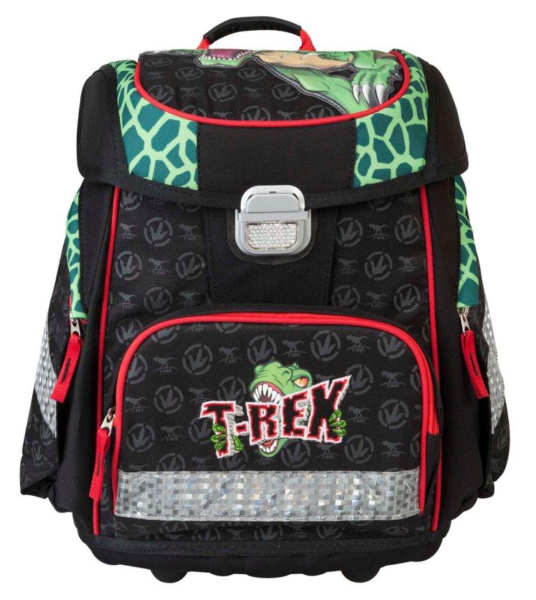 Купить Ранец Динозавр Тирекс чёрный с зелёным 17920, Target, Школьные рюкзаки и ранцы
