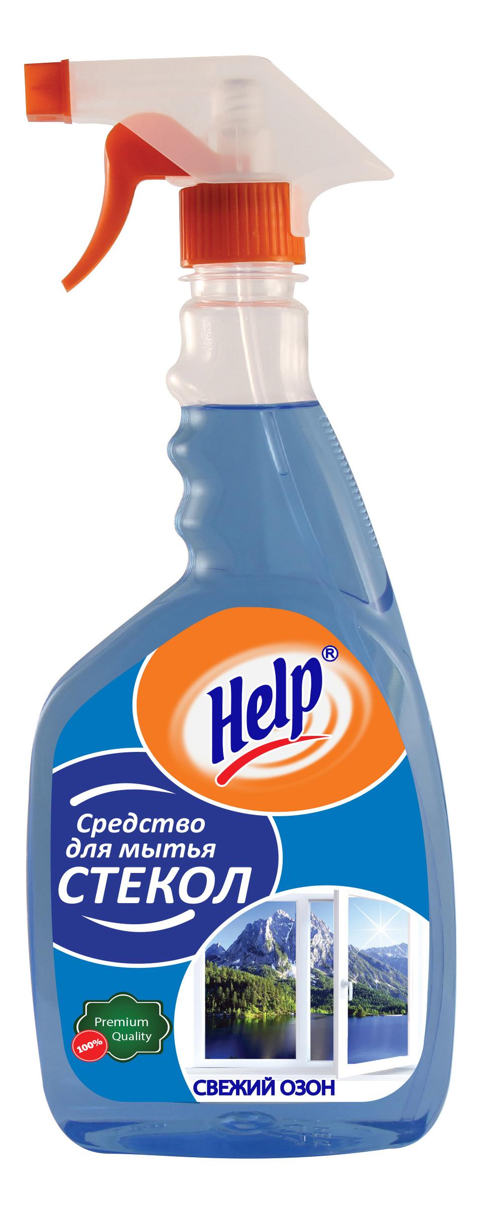 Чистящее средство для стекол и зеркал Help