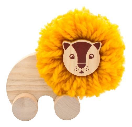 Купить Каталка детская МДИ Помпон-Лев, Мир Деревянных Игрушек, Игрушечные машинки