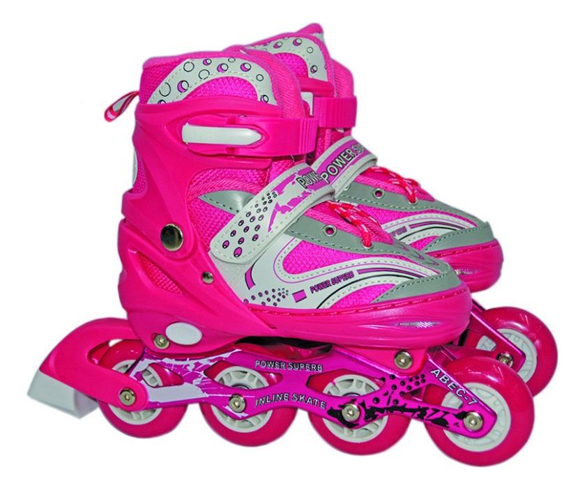 Роликовые коньки раздвижные детские Navigator L (38-41) розовые Т59733