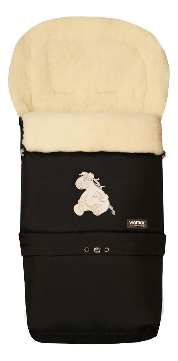 Купить Конверт-мешок для детской коляски WOMAR Multi Arctic черный,