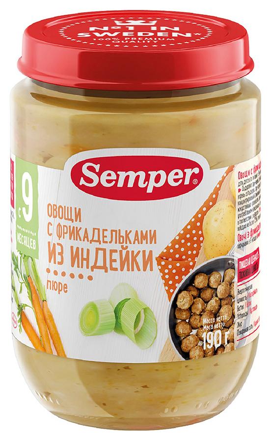 Пюре мясное Semper Овощи с фрикадельками