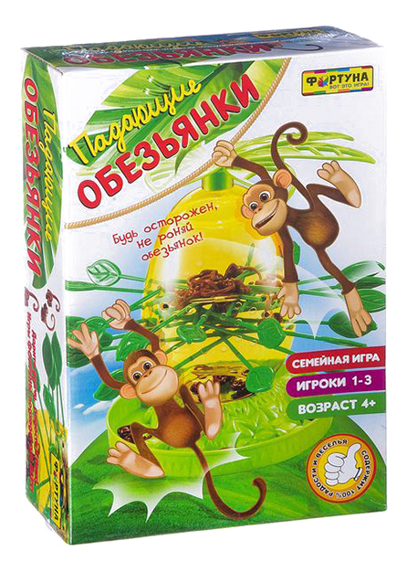 Купить Семейная настольная игра Падающие обезьянки Фортуна Ф85271, Семейные настольные игры