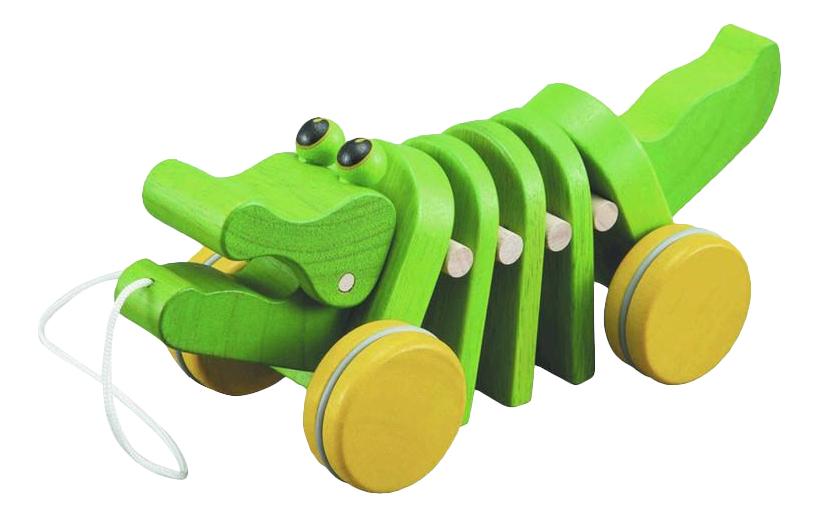 Средняя, Каталка детская PlanToys Танцующий крокодил, Игрушки-каталки  - купить со скидкой