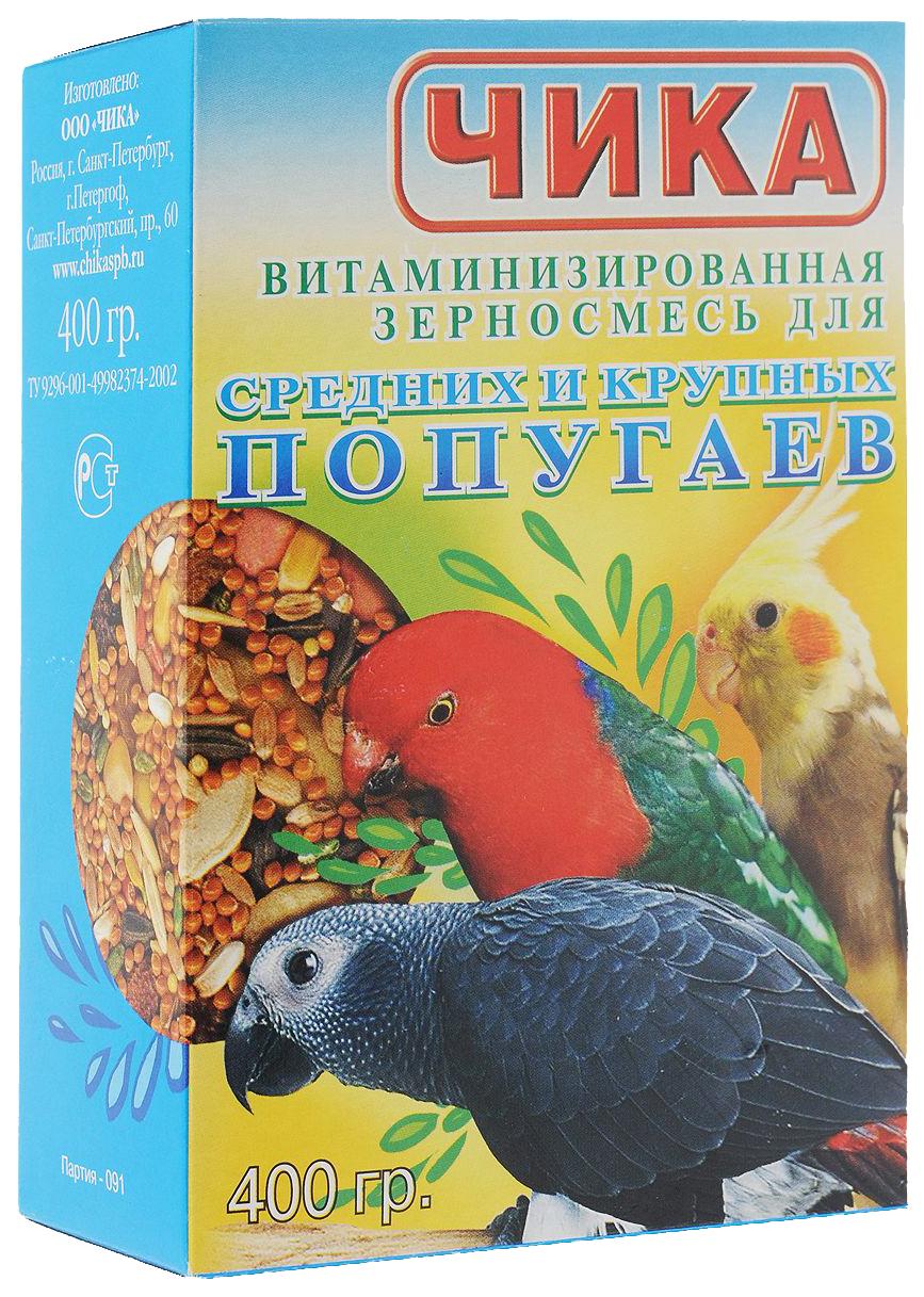 Основной корм Чика для попугаев 400 г 1 шт.