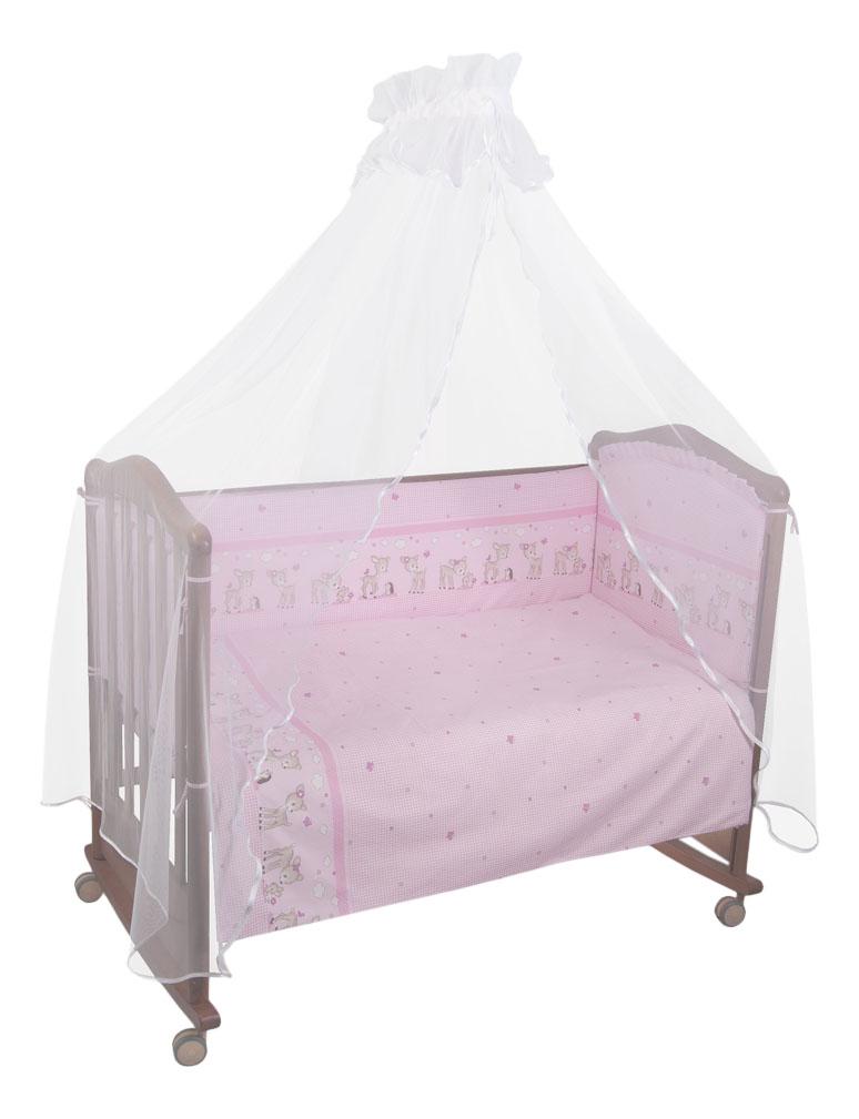 Комплект детского постельного белья Тайна Снов Оленята 3 предмета розовый фото