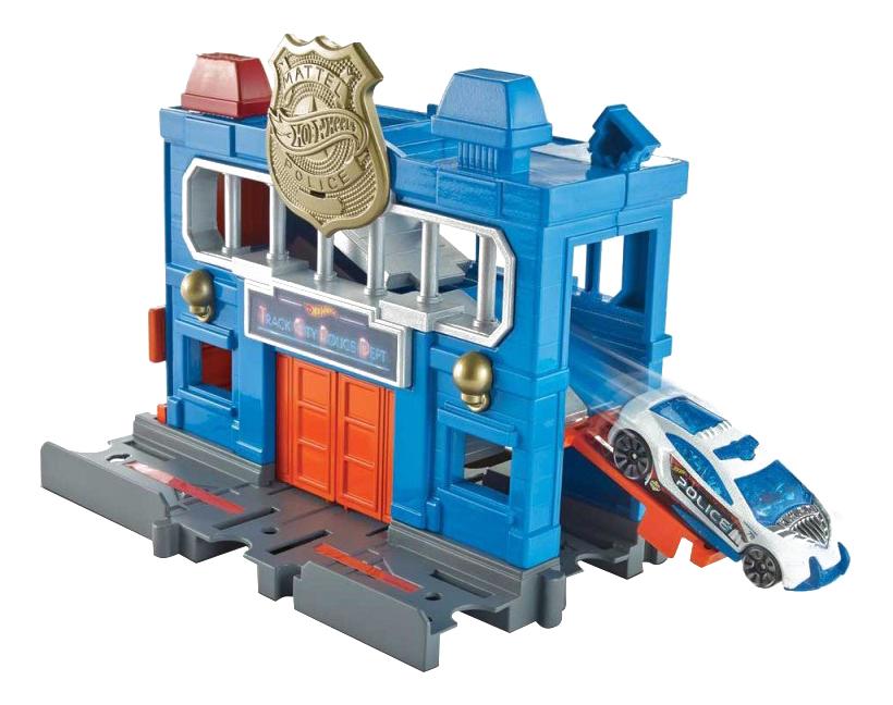 Купить Автотрек Hot Wheels Полицейский участок, Детские автотреки