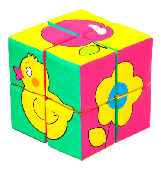 Купить Кубики Предметы Собери картинку Мякиши Р78131, Развивающие кубики