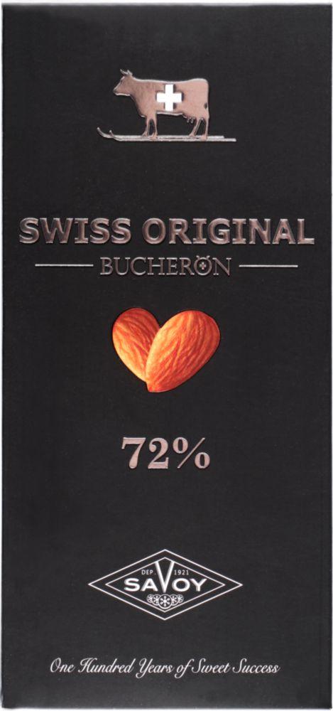 Шоколад горький 72% Swiss original Boucheron с миндалем 100 г