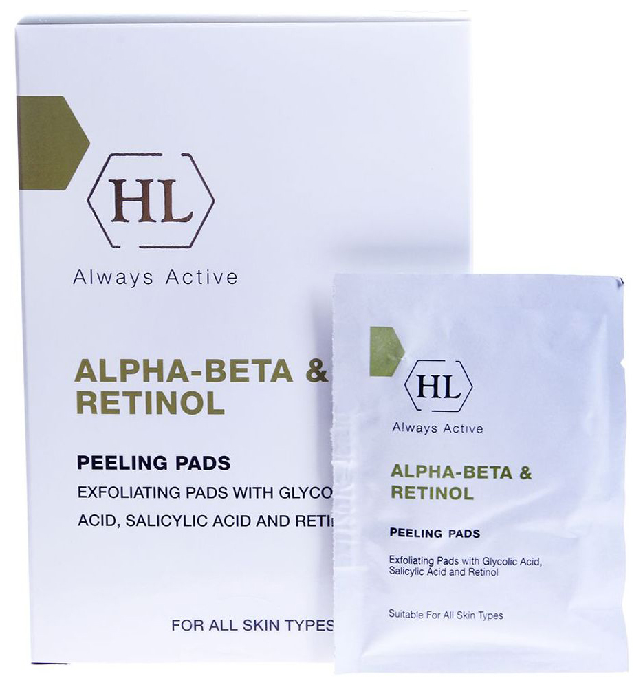 Отшелушивающие салфетки Holy Land Peeling Pads Alpha-Beta & Retinol 24 шт