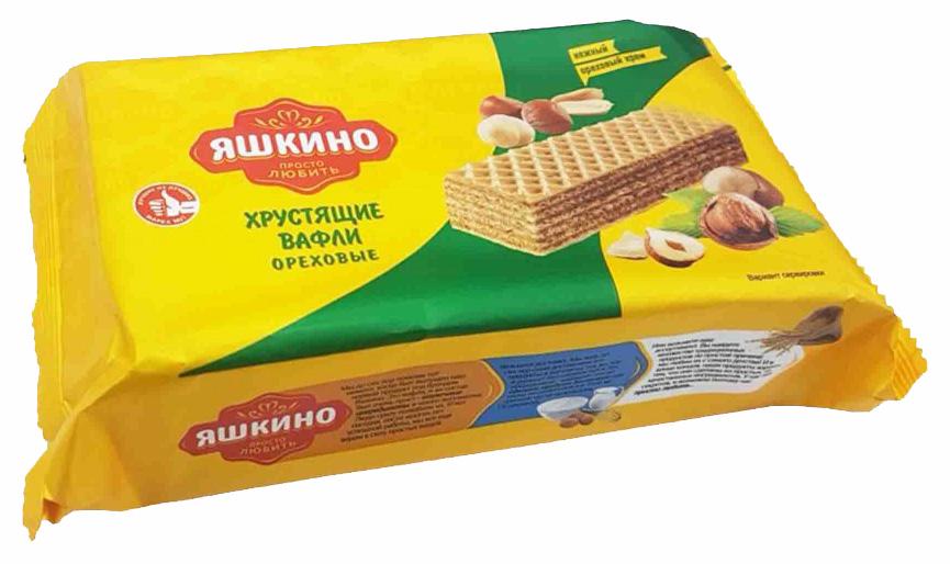 Вафли Яшкино ореховые 200 г фото