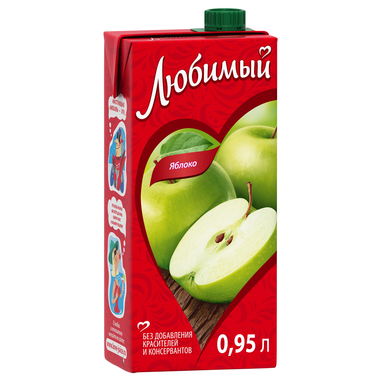 Нектар Любимый яблоко 0.95 л фото