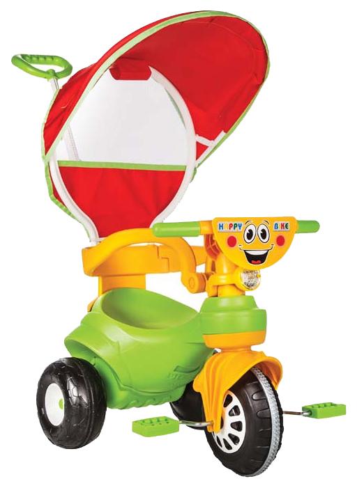 Купить Детский транспорт, Велосипед Pilsan Happy с р/у и крышей, Детские трехколесные велосипеды