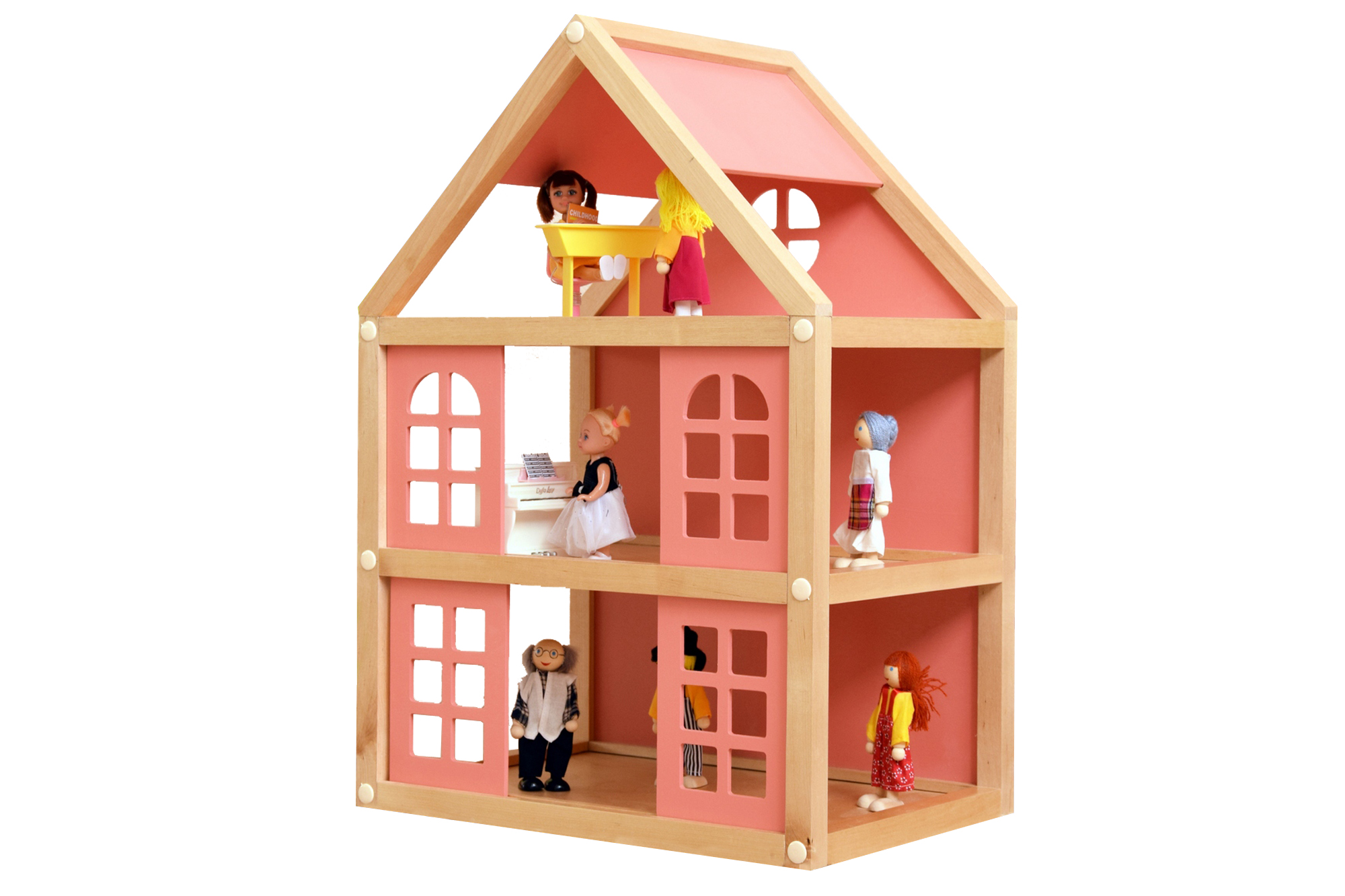 Набор для конструирования Мишка Кострома Кукольный домик 3 этажа ДК-001 фото