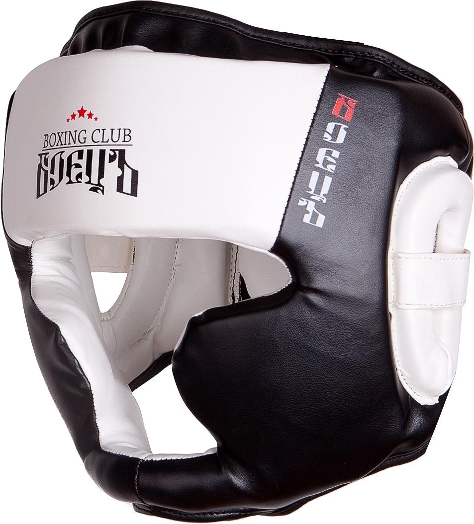 Шлем боксерский BHG 23 Чёрный/Белый, размер L