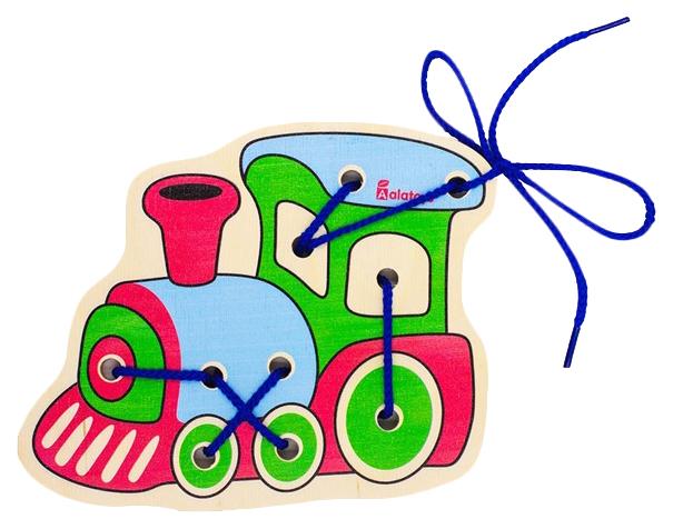 Купить Деревянная шнуровка Паровоз Алатойс / Alatoys, Шнуровки для детей