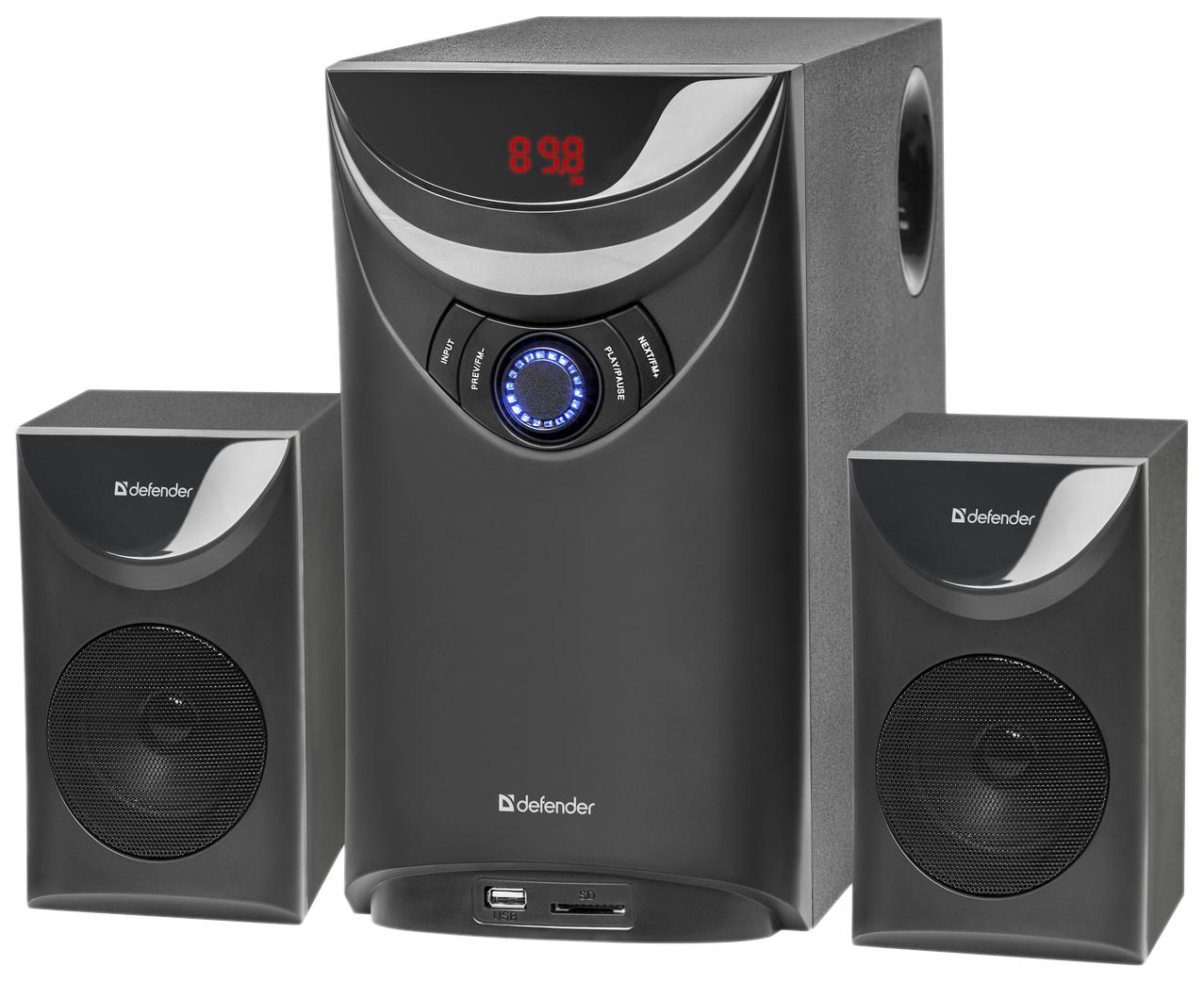 Колонки DEFENDER Thunder 2.1 60Вт, Bluetooth, FM/MP3/SD/USB