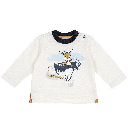 Купить 9006782, Лонгслив Chicco Самолет для мальчиков р.74 цв.белый, Кофточки, футболки для новорожденных
