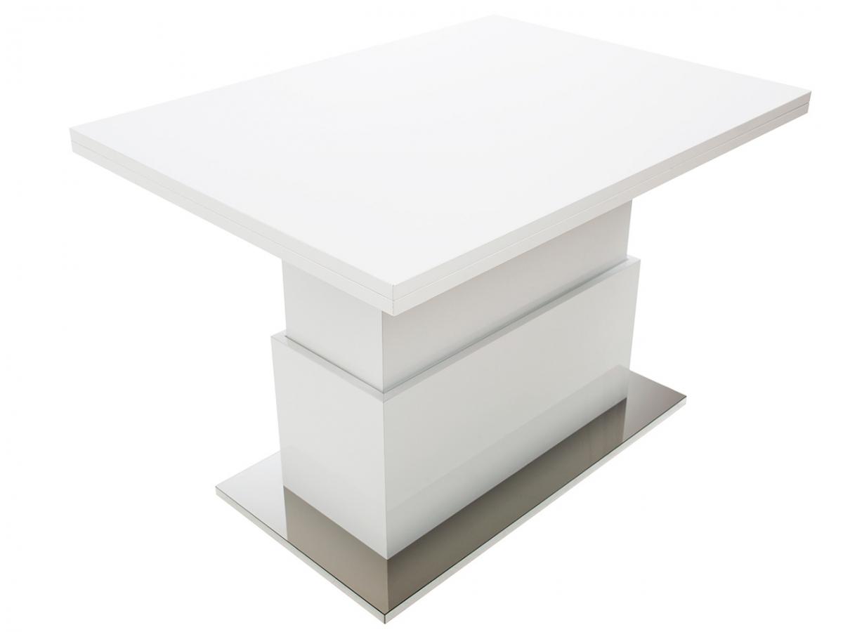 Обеденный стол трансформер Levmar Slide GL Белый