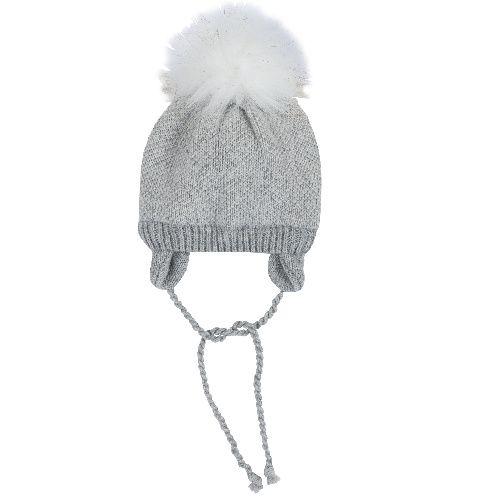 Купить Шапка Chicco для девочек р.3 цвет светло-серый, Детские шапки
