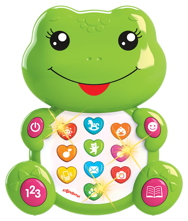 Интерактивная игрушка Азбукварик Зверята С Огоньками Лягушонок