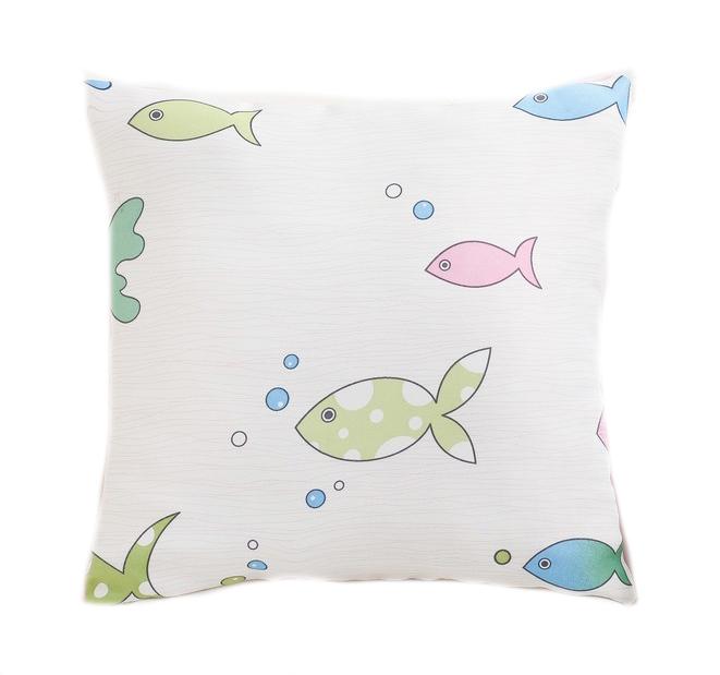 Подушка декоративная Крошка Я Океан розовая, 40×40 см