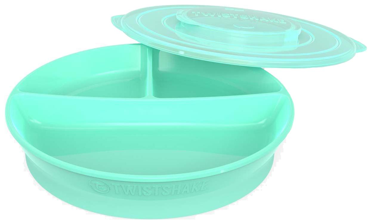 Тарелка с разделителями Twistshake, цвет: пастельный зеленый
