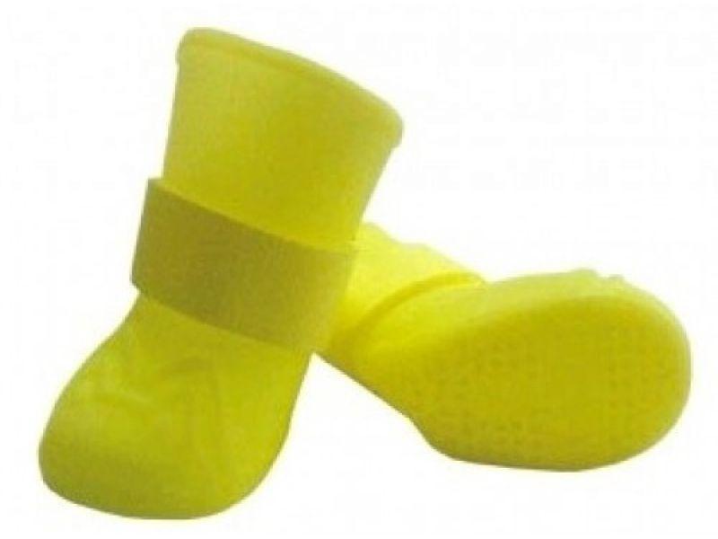 Ботинки для собак Leonardo, силиконовые, желтые, размер