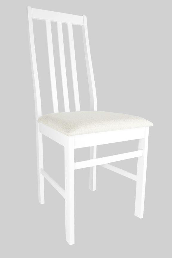 Стул деревянный белый мягкий 6036