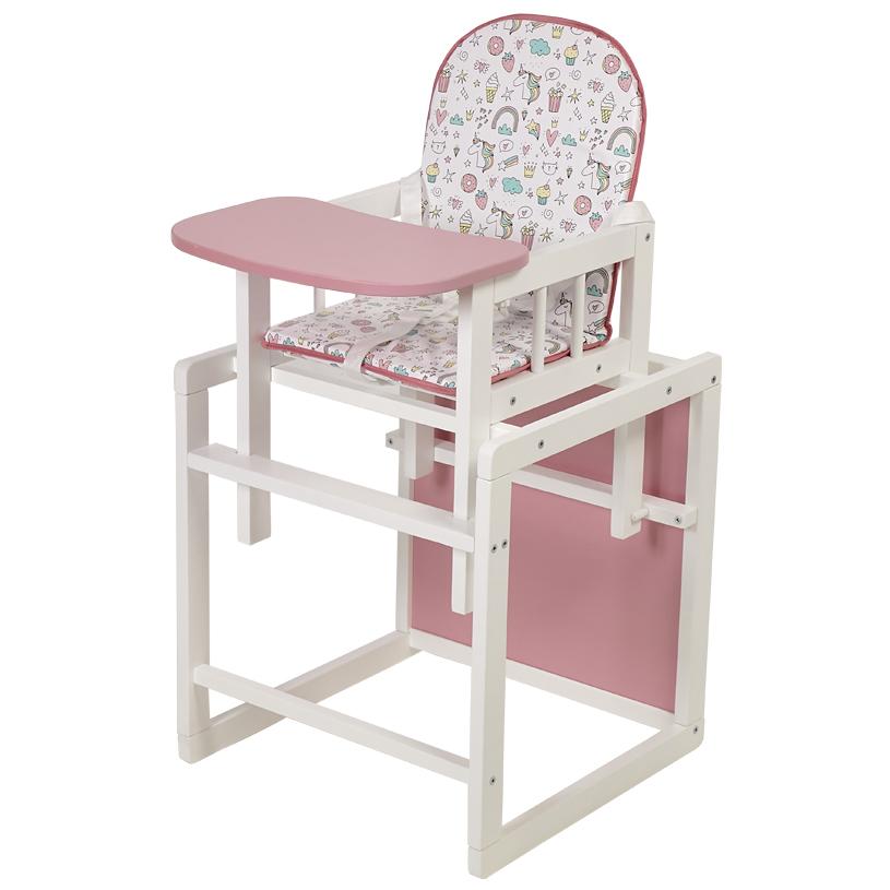 Стул детский трансформируемый Polini kids 255 Единорог Сладости белый/розовый