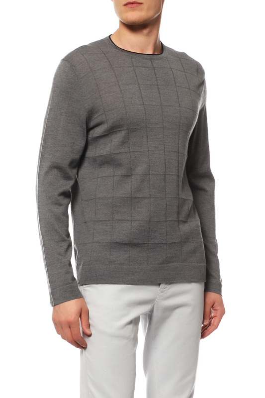 Пуловер мужской BOGNER FW5 FLORIAN 8827 6024 серый 58 DE фото