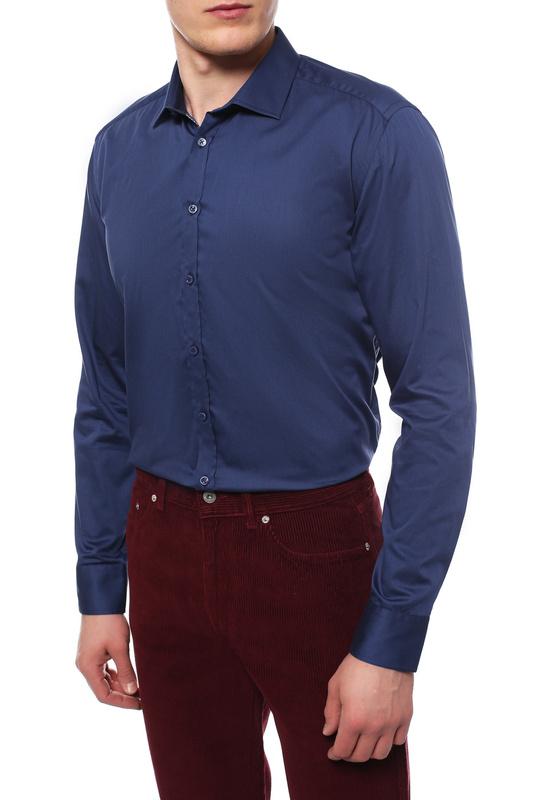 Рубашка мужская Sand FW16 8589 - IVER TRIM синяя 43 EU