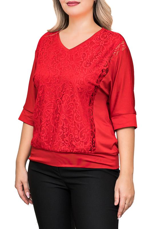 Блуза женская Balsako ГИПЮР 2 МАСЛО красная 58 RU/60 RU фото