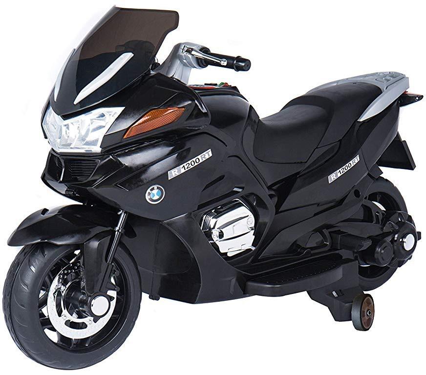 Купить Детский электромобиль мотоцикл BMW R1200RT Black 12V - HZB-118-BLACK,