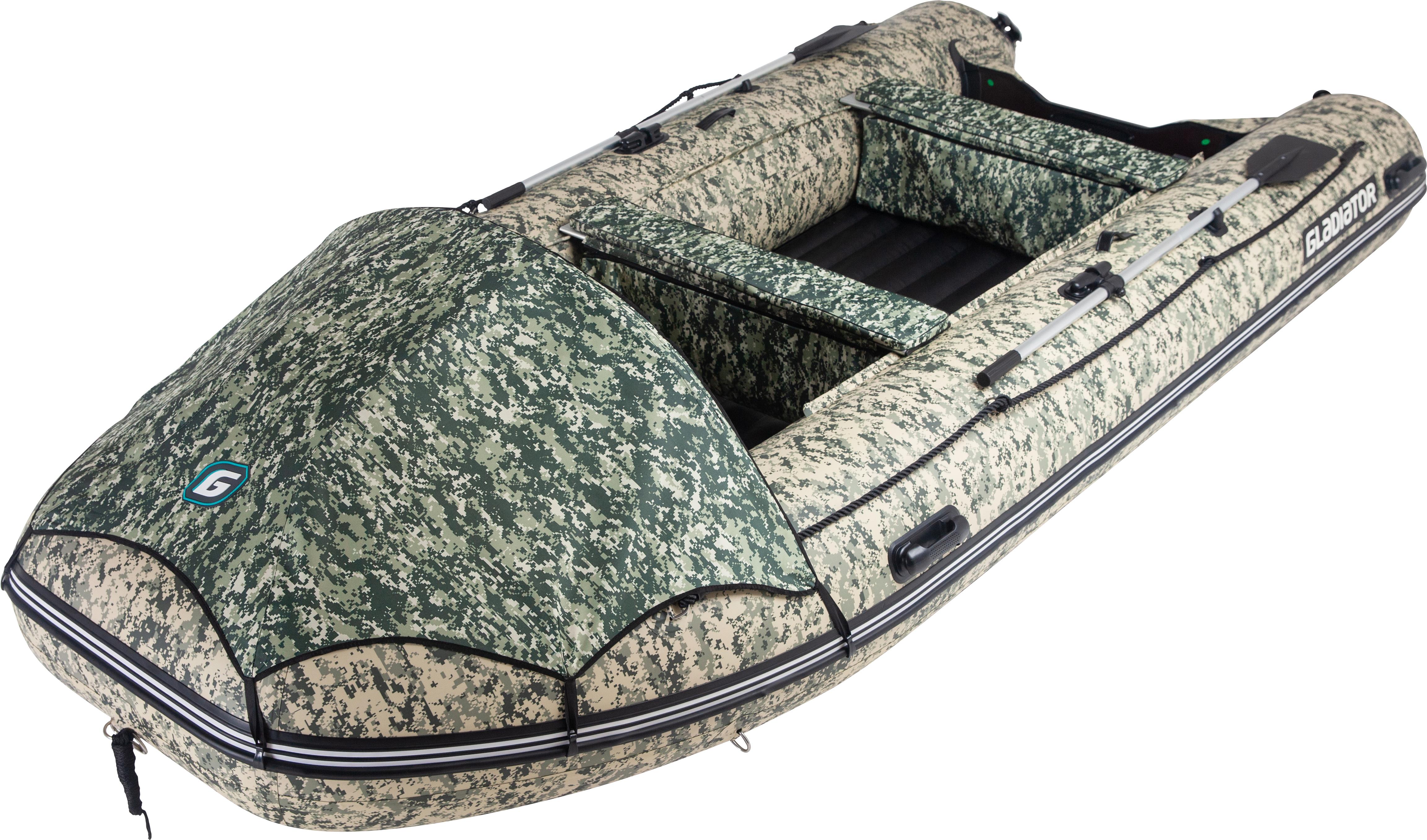 Лодка надувная Gladiator E 450 НДНД 4,5 x 2,04 м камуфляж
