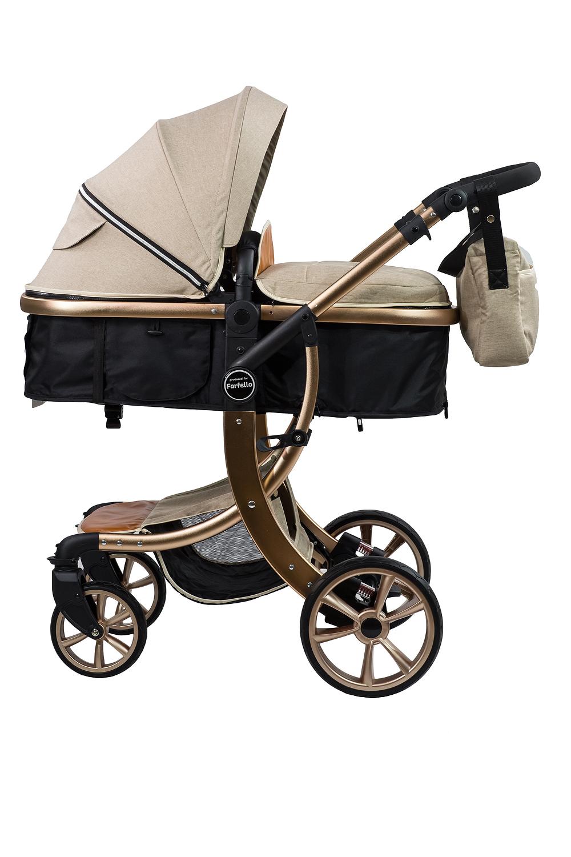 Купить Коляска трансформер Aimile Gold, ТM Farfello, бежевый, FTG-4, Детские коляски трансформеры